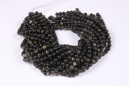 Golden obsidian 8 MM Beads
