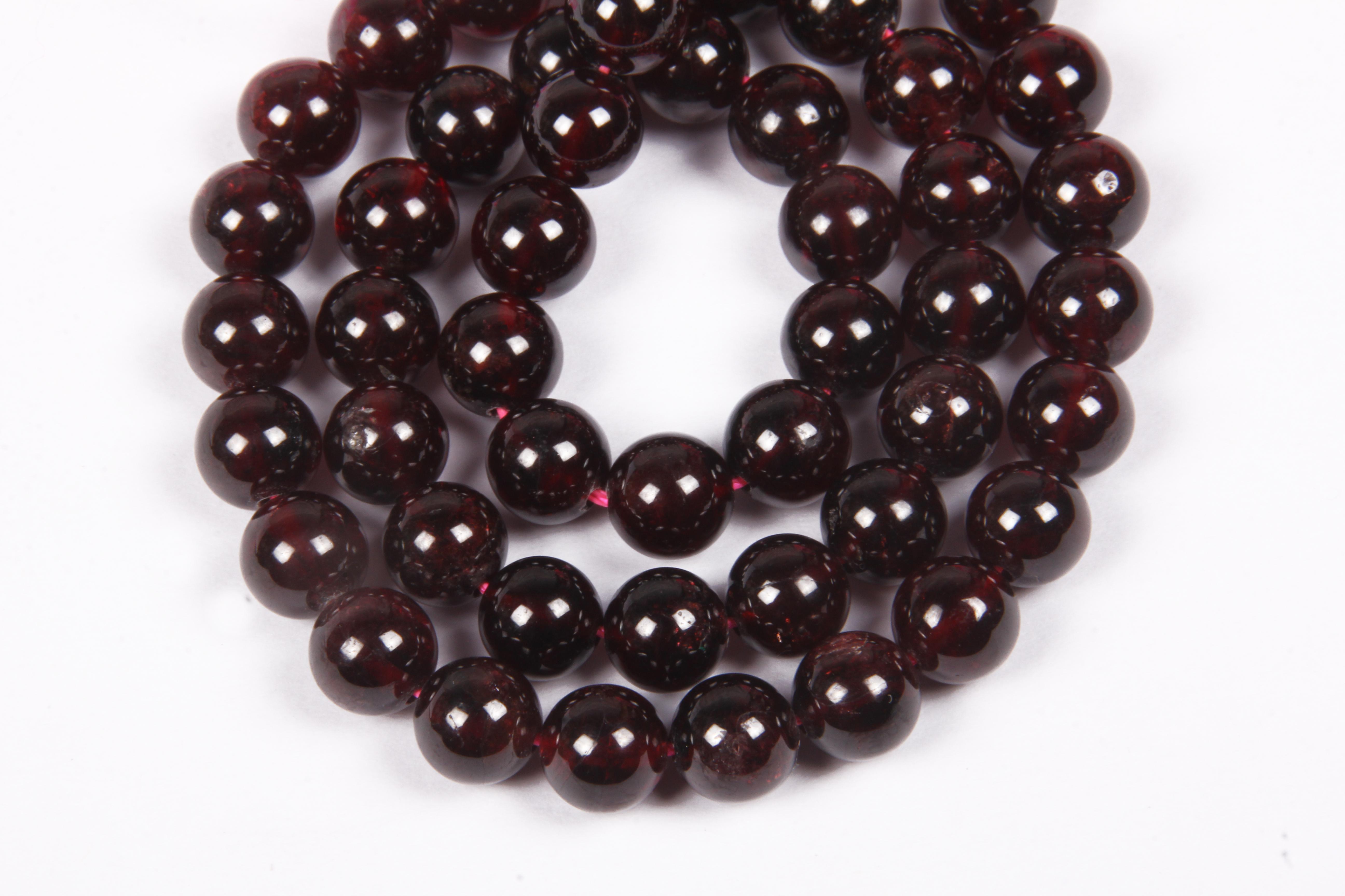 Garnet 8 MM Beads