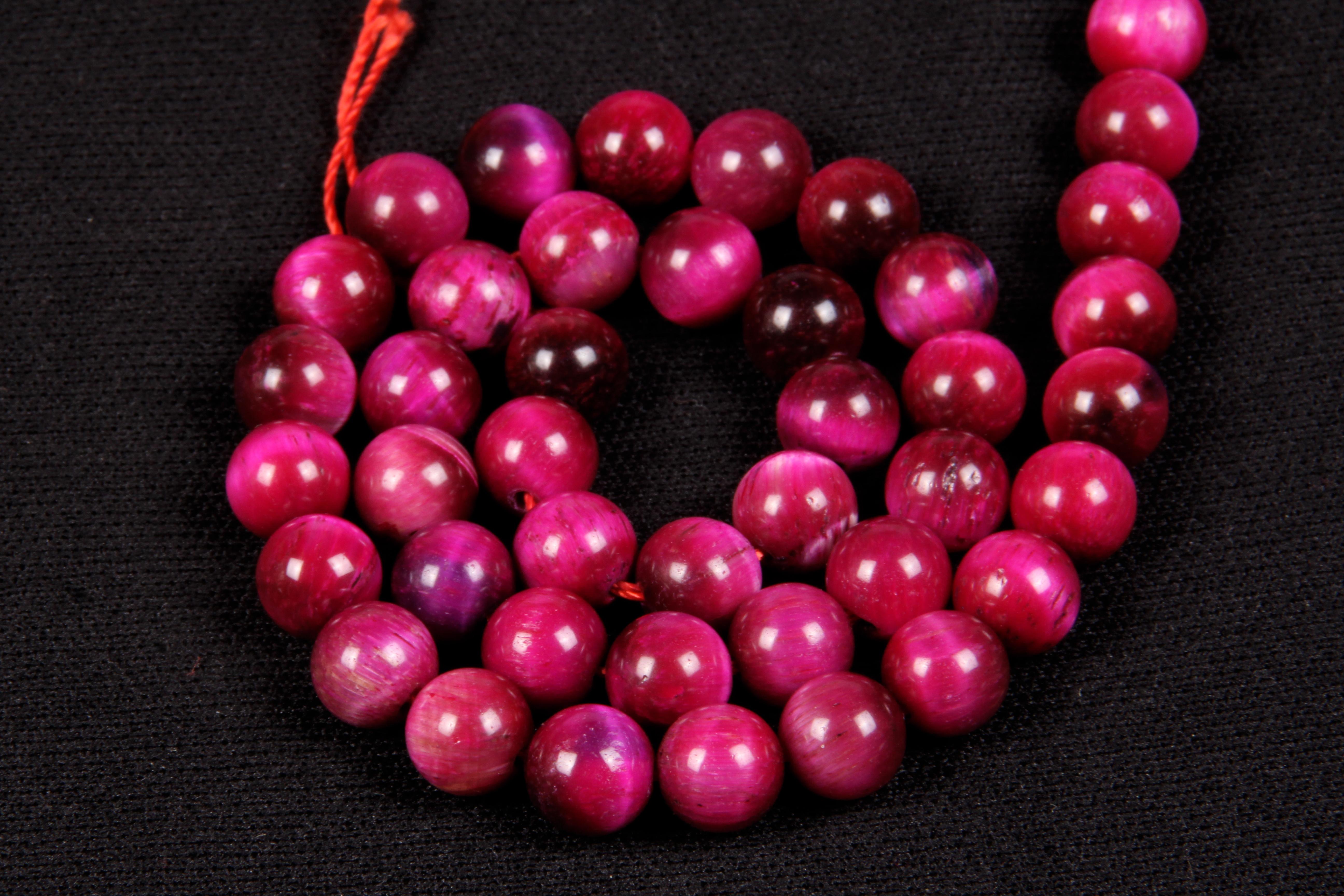 Pink Tiger Eye 8 MM Beads
