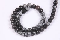 Snowflake Obsidian 8 MM Beads