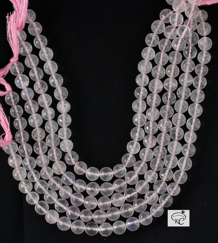 Rose Quartz Faceted Beads