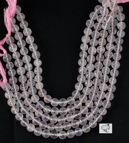 Rose Quartz Faceted Beads