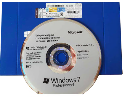 Windows 7 Operating System 32 Bit / 64 Bit OEM software French Language