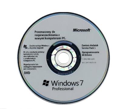 Polish Language Windows 7 Professional OEM Software With Genuine COA Key Sticker
