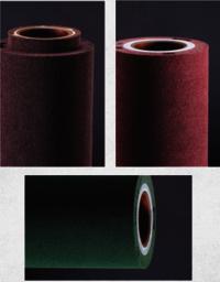 Non-woven brush roller for PCB scrubbing