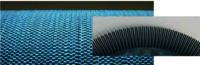 Non-clogging nylon bristle brush roller