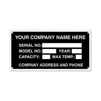 Anodized Nameplates