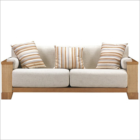 Wooden Double Seater Sofa