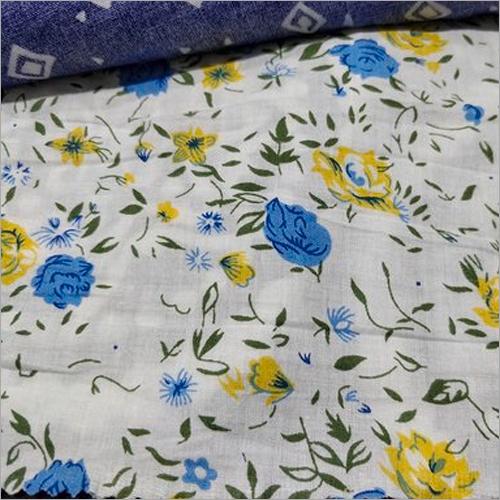 Blur Viscose Printed Fabric