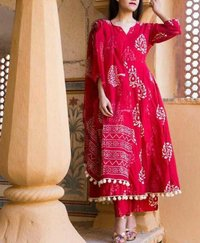 Pumpam kurti , Palazzo with Duptta Set (3 Piece Set)