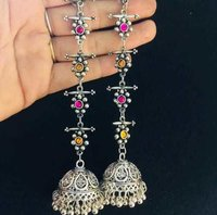 Metal Jhumka Earrings