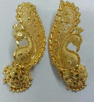Fancy Gold Plated Jhumka Earrings