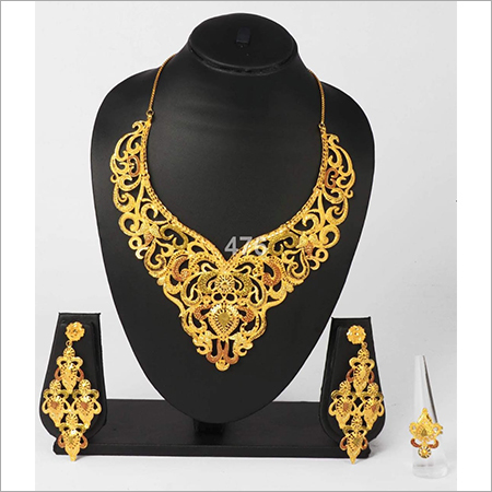 Traditional Gold Plated Necklace Set