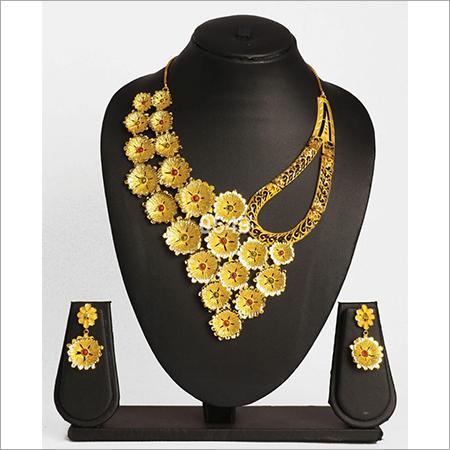 Unique Designer Gold Plated Necklace