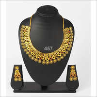 Styish Gold Plated Necklace Set