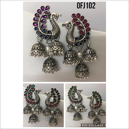 Designer Peacock Jhumka Earring