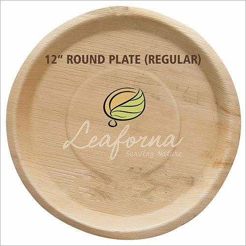 Plain Round Areca Leaf Plate