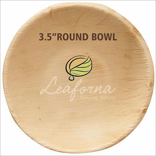Disposable Round Areca Bowl