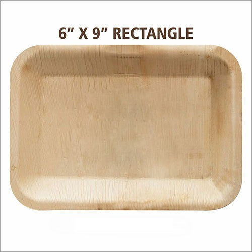 Rectangular Areca Leaf Tray