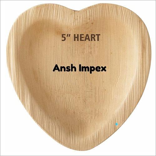 Heart Shaped Areca Leaf Tray