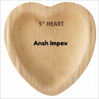 Heart Shaped Areca Leaf Tray
