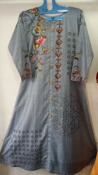 Designer Digital Printed Kurti Fabric