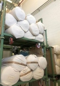 21000 Kg Raw Cotton Fabrics Lot Fresh For Sell Italian Made