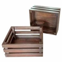 Wooden Gift cum Storage Organiser- Walnut Brown