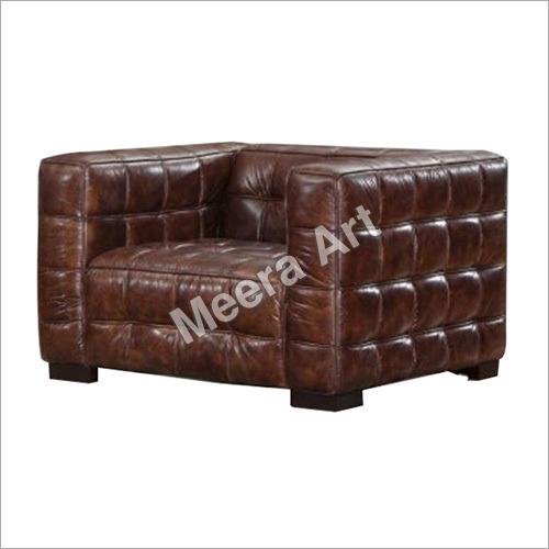 Leather Single Seater Sofa