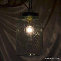 Crystal N Big Jar Shape Cutting Glass Wall Hanging