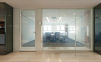 SPS Style Modular Aluminum Glass Door Office Partition