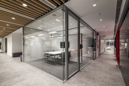 SPS 2580A Ultra Glaze Glass Aluminum Office Partitions