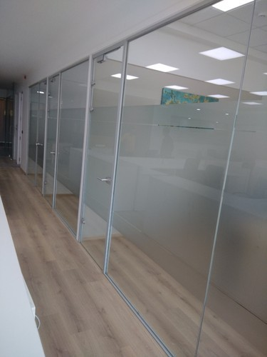 SPS 2553 Side Glaze Glass Aluminum Office Partitions