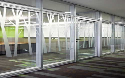 SPS 25100 Wide Double Glaze Aluminum Glass Office Partitions