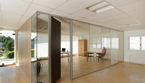 SPS 2525 Fine Glaze Glass Aluminum Office Partition
