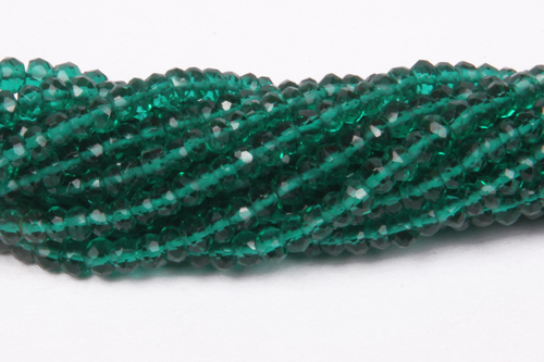Green Hydro Faceted Micro Beads