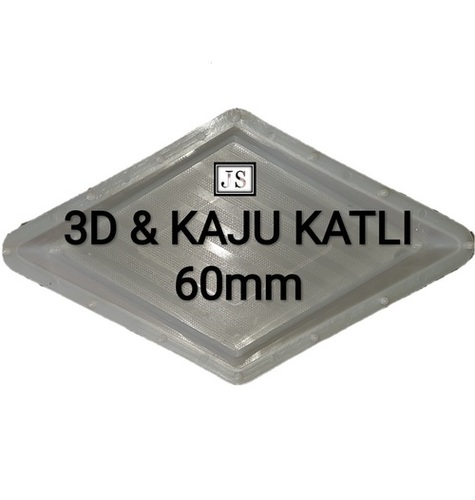 3D & Kaju Katli Silicone Plastic Interlock Mould