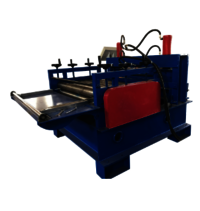 Metal sheet leveling machine