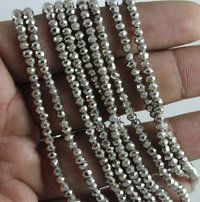 Silver Pyrite Micro Beads