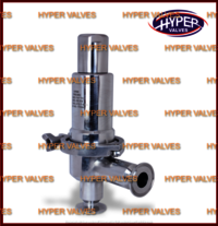 Clean steam pressure relief valve