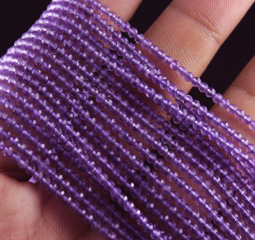Purple Amethyst Micro Beads