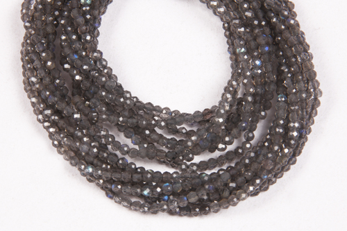 Labradorite Micro Faceted  Beads