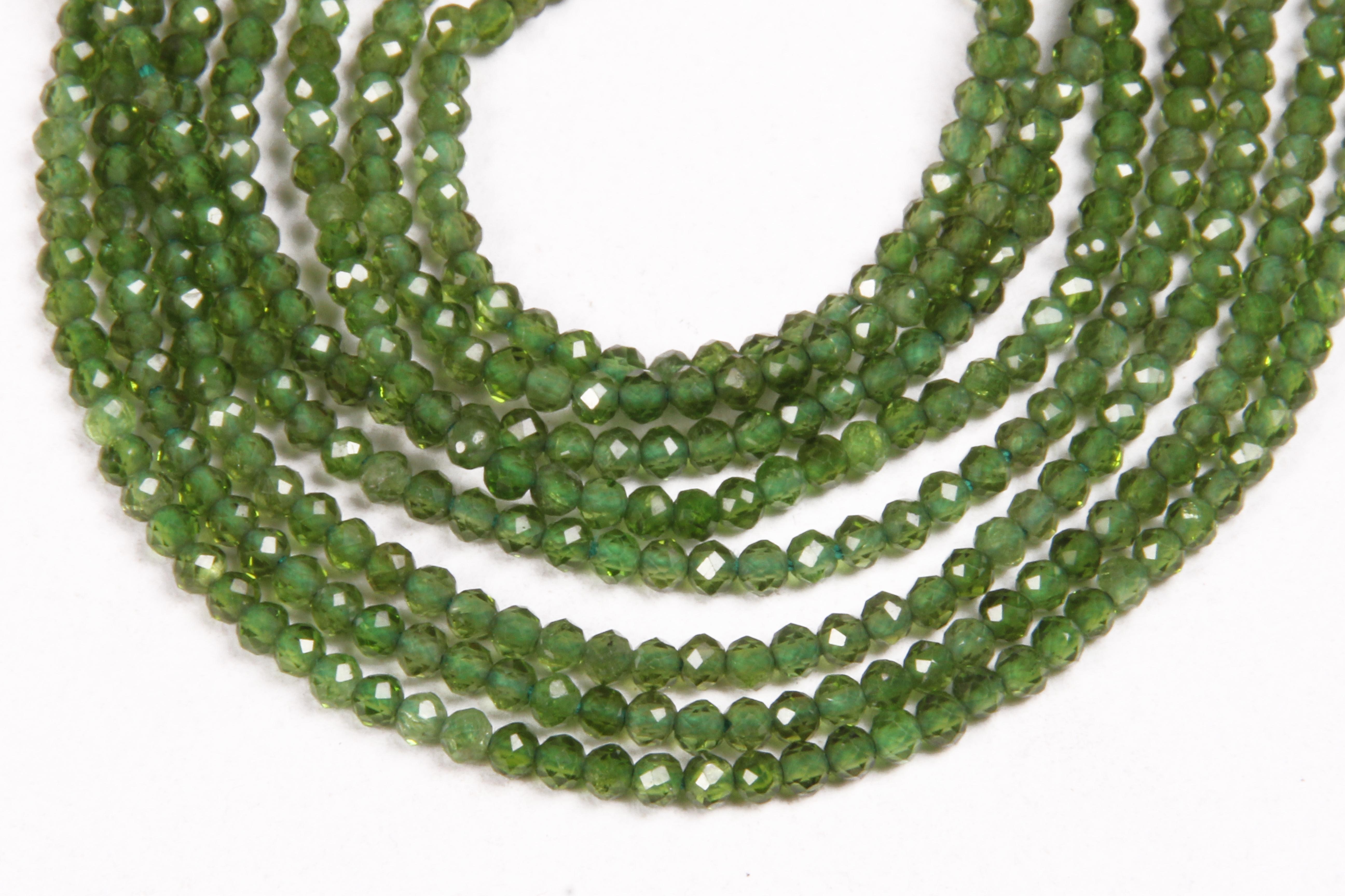 Chrome Diopside Micro Beads