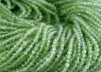 Prehnite Micro Faceted Beads