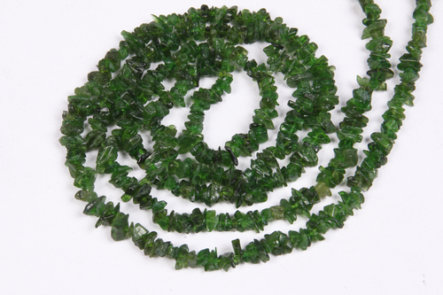Chrome Diopside Uncut Chips Beads