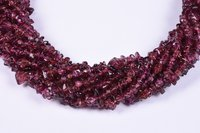 Natural Uncut Garnet Beads