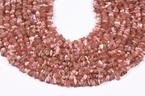 Rhodochrosite Uncut Chips Beads