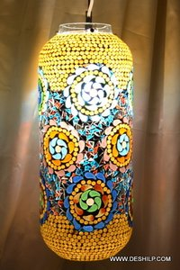 Mosaic Wall Hanging With Antique Fitting