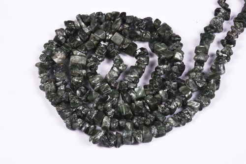 Seraphinite Uncut Chips Beads