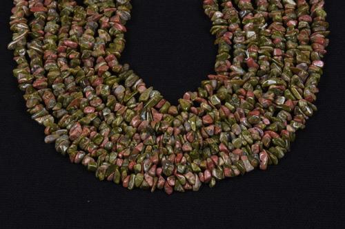 Unakaite Uncut Chips Beads